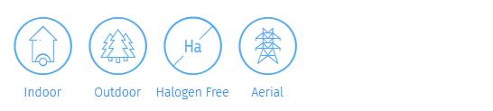 CLT aerial fibre optic cablell