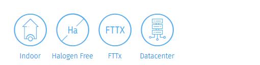 Simplex breakout fibre optic cable is suitable for indoor datacentre