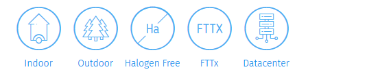 Standard distribution fibre optic cable FTTx.