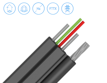 Flat Fig.8 optic cable