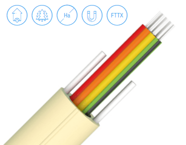 Buffered riser fibre optic cables