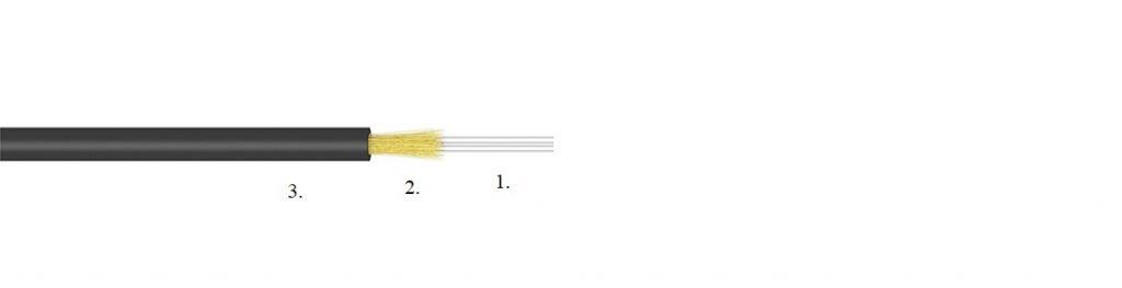 Drop aerial fibre optic cable